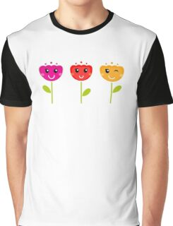 Cute colorful tulips. This is authors Illustration. Graphic T-Shirt