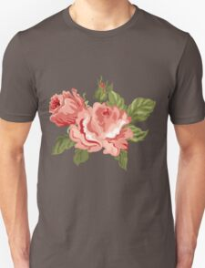 Vintage Pink Colored Roses  Unisex T-Shirt