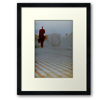 Man walking in city analog 35mm Lomo Smena vintage photo Framed Print