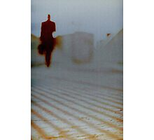 Man walking in city analog 35mm Lomo Smena vintage photo Photographic Print