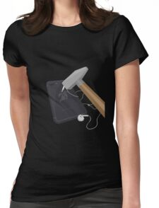 Banana Phone Womens Fitted T-Shirt