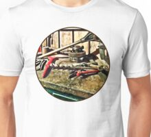 Two Red Wrenches on Plumber's Workbench Unisex T-Shirt