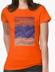 Painted High Desert original painting Womens Fitted T-Shirt