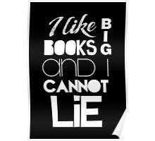 Baby Got Books (White)  Poster
