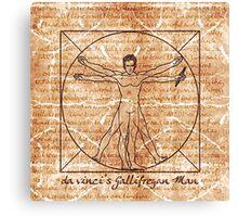 da vinci's Gallifreyan Man Canvas Print
