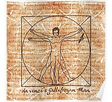 da vinci's Gallifreyan Man Poster