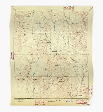 USGS TOPO Map Arizona AZ Prescott 315582 1892 250000 Poster