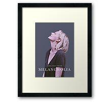 melancholia   alternative movie poster Framed Print