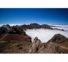 Bedding of Clouds on the Tallest Madeiran Peak - Travel Photography Photographic Print