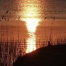 Sunset over Lough Erne. by Fara