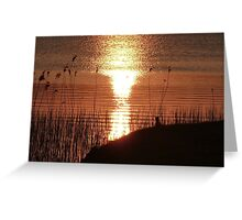 Sunset over Lough Erne. Greeting Card