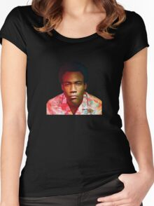 Childish Gambino's Because The Internet album cover Women's Fitted Scoop T-Shirt