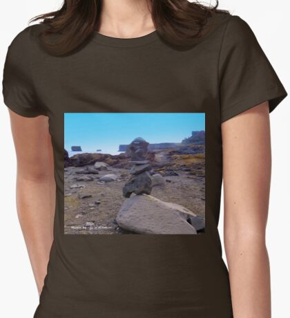 Troll protection tower Womens Fitted T-Shirt