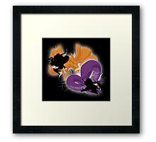 ninja fight Framed Print