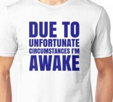 I'm Awake - Navy Text Unisex T-Shirt