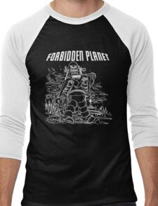 Forbidden Planet Black and White Men's Baseball ¾ T-Shirt