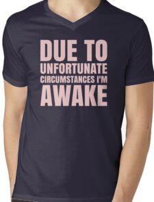 I'm Awake - Pink Text Mens V-Neck T-Shirt