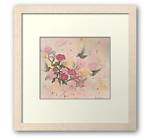 Hummingbirds-scroll down to view more of my work  Framed Print