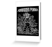 Forbidden Planet Black and White Greeting Card