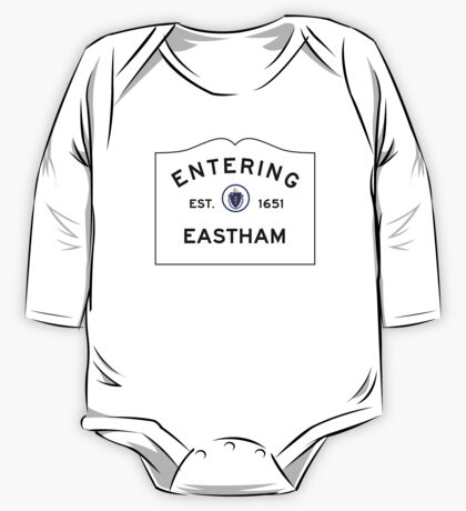 Entering Eastham - Commonwealth of Massachusetts Road Sign One Piece - Long Sleeve