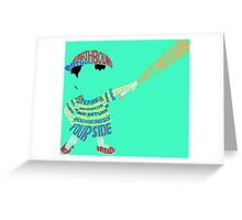 Ness Typography Greeting Card