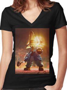 Super Vivi Women's Fitted V-Neck T-Shirt