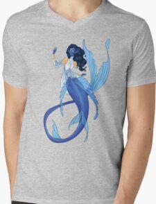 Blue Mermaid Mens V-Neck T-Shirt