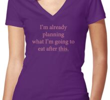 Planning Ahead Women's Fitted V-Neck T-Shirt