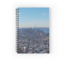 Downtown Manhattan Shot from The Empire State Building Spiral Notebook