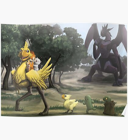 Chocobo & Friends Poster