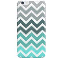 Tiffany Fade Chevron Zigzag Pattern iPhone Case/Skin