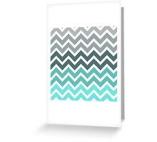 Tiffany Fade Chevron Zigzag Pattern Greeting Card