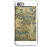 CHARLES II NEEDLEWORK PICTURE, THIRD QUARTER 17TH CENTURY Depicting Ruth meeting Boaz, iPhone Case/Skin