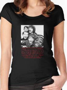 Stranger Things Squad Goals tshirt Women's Fitted Scoop T-Shirt