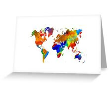 Design 33 colorful worldmap Greeting Card