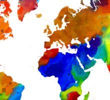 Design 33 colorful worldmap Sticker