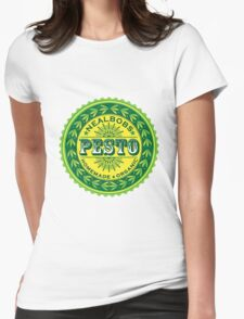 cool pesto graphic Womens Fitted T-Shirt