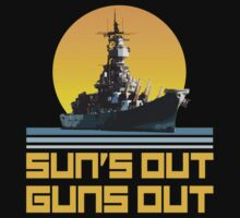 Sun's Out Guns Out - Battleship by robotface