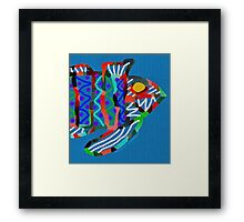 Abstract Striped Bass Framed Print