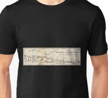 0354 Railroad Maps Map of the Philadelphia Baltimore Rail Road as located by W Strickland B H Latrobe Esqrs civ engineers Showing also the present route by steamboat the N Unisex T-Shirt