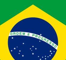 BRAZIL BRASIL FLAG CREST BADGE EMBLEM 2 Sticker