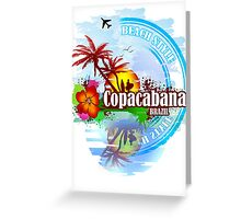 Copacabana Brazil Greeting Card