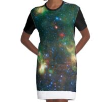 Enterprise Nebulae Without Lines Graphic T-Shirt Dress
