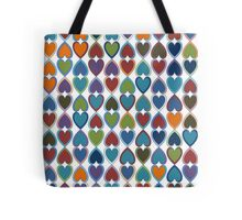 April Double Hearts Tote Bag