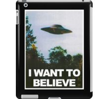 I WANT TO BELIEVE HIGH RESOLUTION iPad Case/Skin