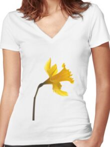 Daffodil dreams Women's Fitted V-Neck T-Shirt