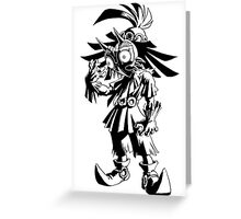 Majora's Mask - Skull Kid (Black) Greeting Card