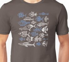 Inked Fish on Lime Green Unisex T-Shirt