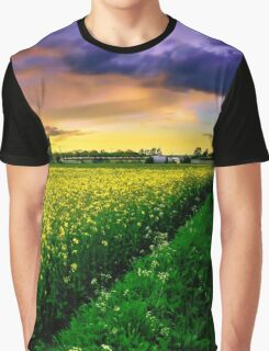 Rapeseed Sunset Graphic T-Shirt