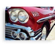 Bright Lights Classic Chrome Photo Canvas Print